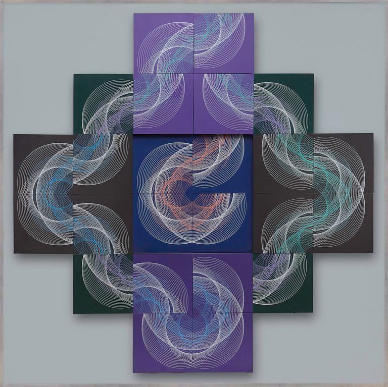 Descomposición de un tema. Hacia el infinito (1969), una de las obras de MacEntyre incluidas en el libro
