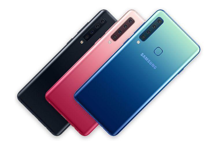 Samsung presentó el Galaxy A9, un teléfono equipado con cuatro cámaras traseras