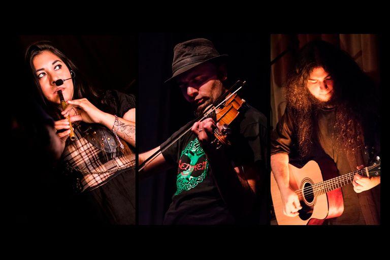 Música irlandesa con el trío Evergreen