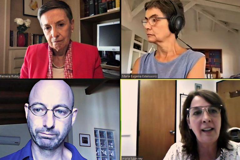 Dalia Ferreira, presidente de Trasnparencia Internacional, Maria Eugenia Estenssoro, periodista y exsenadora y María Luján Rey, diputada nacional, participaron de una conferencia organizada por Fopea