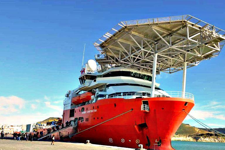 El buque desde donde se llevó adelante la búsqueda científica que comenzó en septiembre pasado