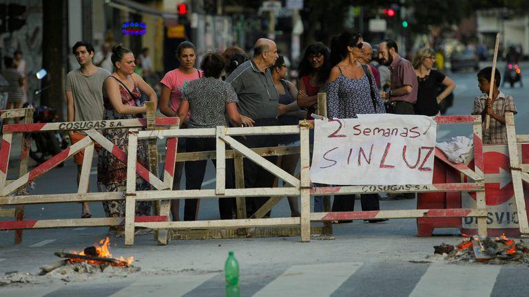Corte de luz en Cordoba a la altura de Larrea, 19 de marzo de 2015