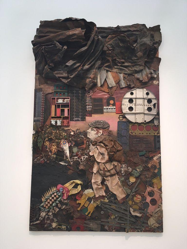 Juanito va a la ciudad (1963), obra de Antonio Berni exhibida en el Lacma