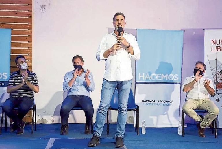 Viñuales, Santilli, Kravetz y D''Alessandro, hace diez días, en Lomas