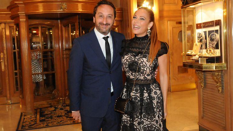 Iliana Calabró llegó con su novio a la gala