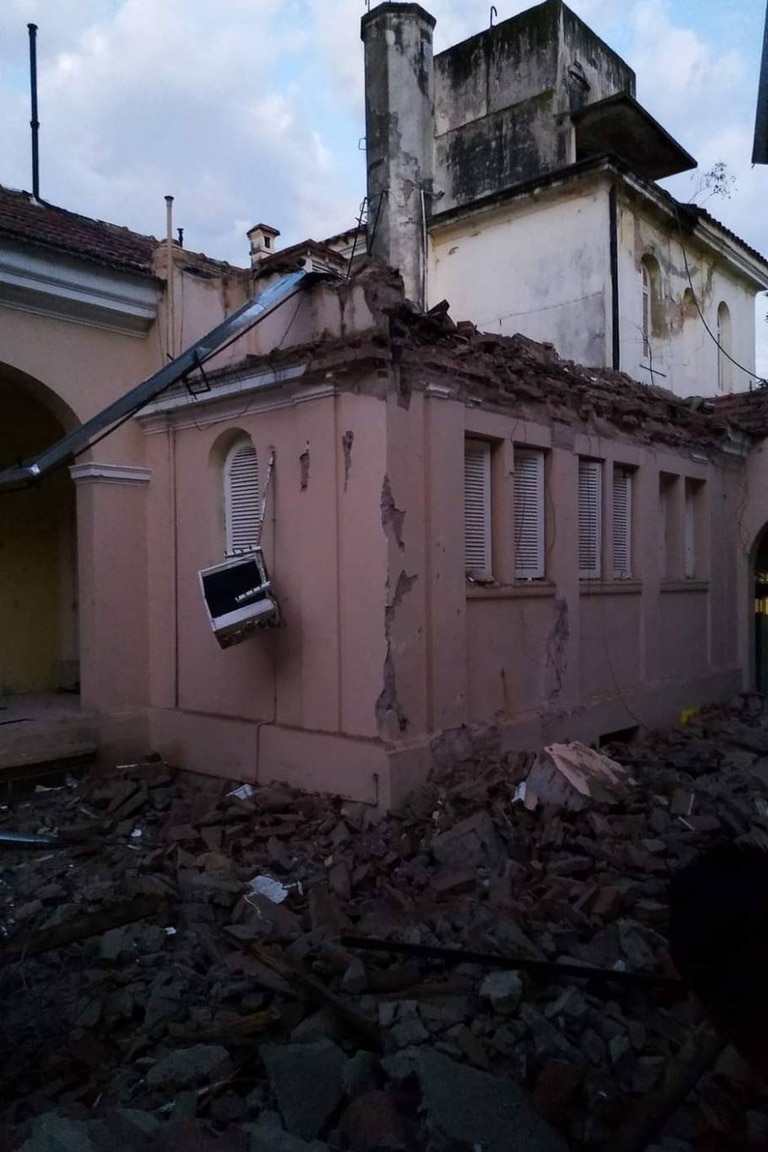 El hospital continuará funcionando, ya que las insatlaciones de la parte nueva no fueron afectadas por el derrumbe