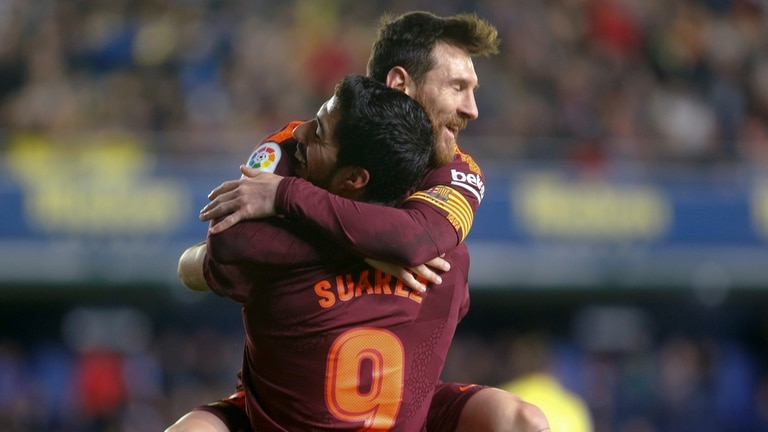 Messi y Suárez anotaron en el triunfo de Barcelona