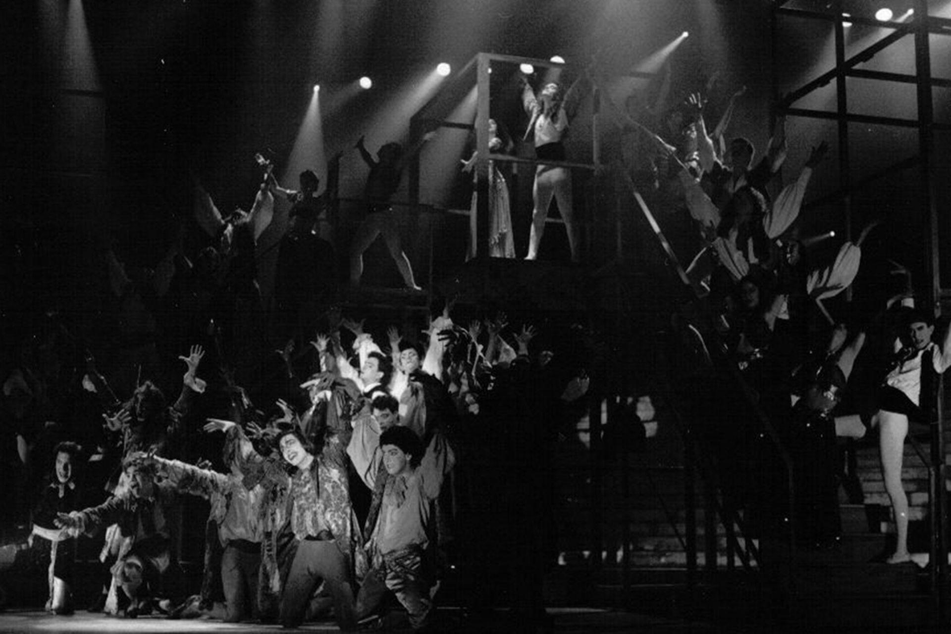 La escena de los gitanos, en la versión original de Drácula, en el Luna Park (1991)