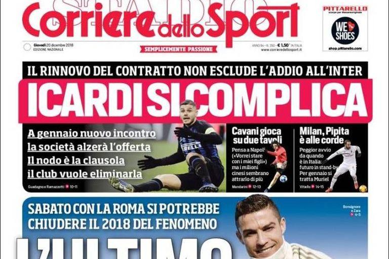 La portada de Corriere dello Sport de este jueves 20 de diciembre