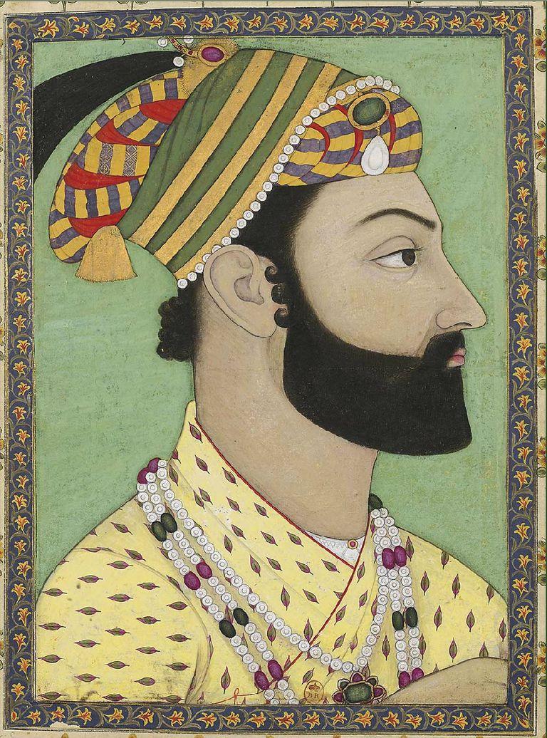 Retrato de Ahmad Shah Durrani realizado en 1757 por la escuela pictórica del Islam mogol