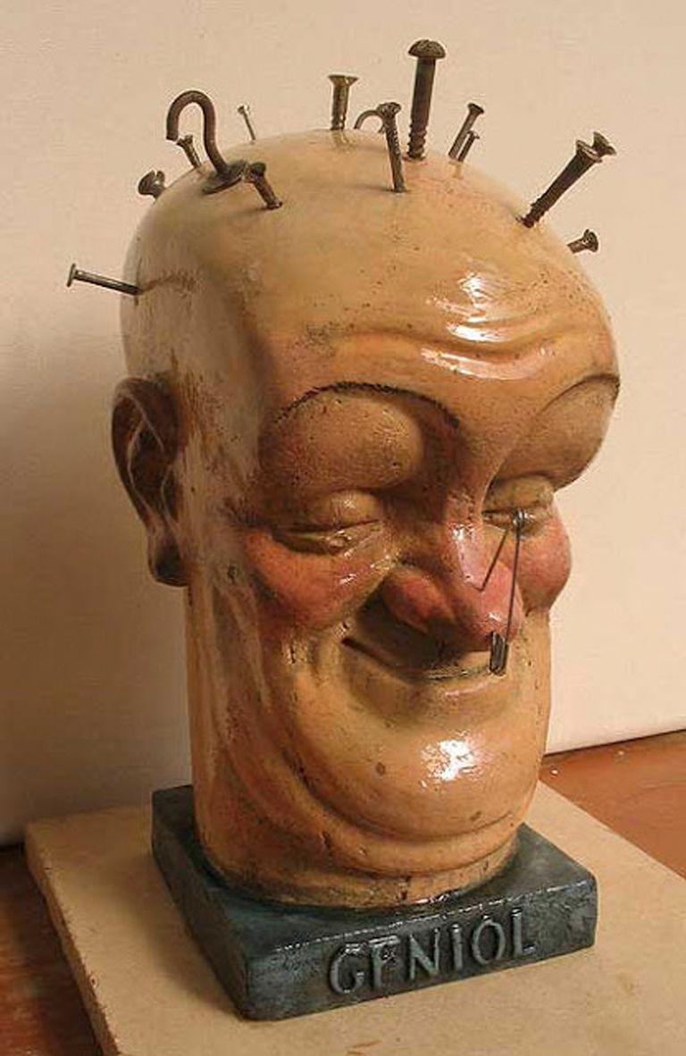 Réplica de la cabeza de Geniol de 1930