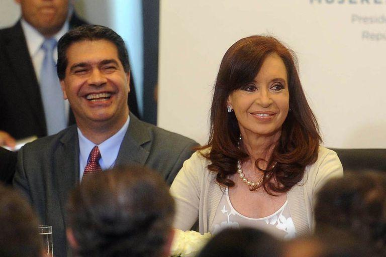 El exjefe de Gabinete Jorge Capitanich y Cristina Kirchner
