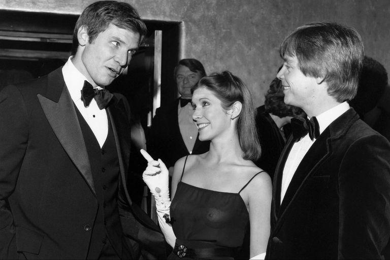 Harrison Ford, Carrie Fisher y Mark Hamill se divirtieron a lo grande en la filmación de Star Wars.