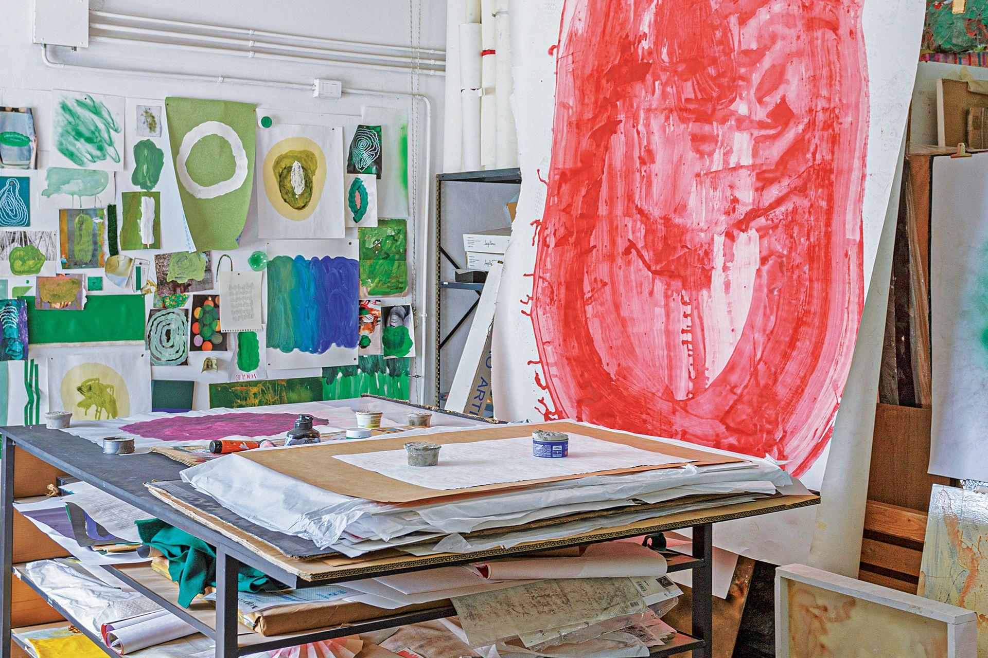 Proceso de obra de Sergio Bosco, en el taller Yeruá