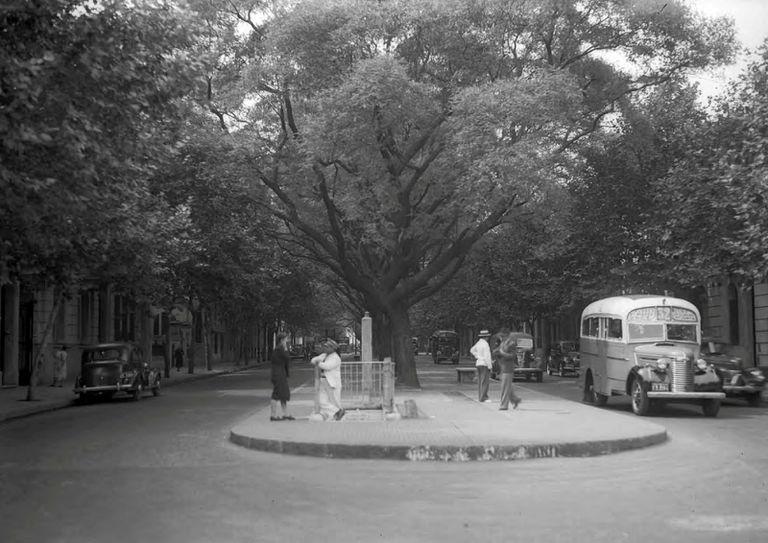Carabobo y Rivadavia, en la década de 1940