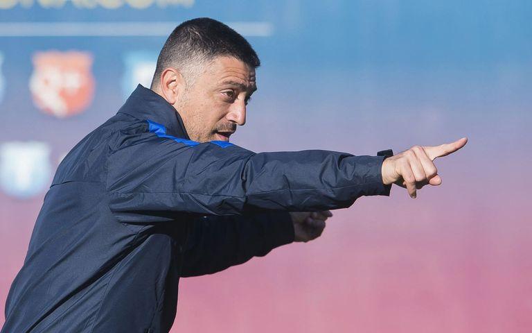 11-06-2021 El entrenador Francesc Xavier García Pimienta en su etapa en las categorías inferiores del FC Barcelona, una vez anunciada su rescisión de contrato con el Barça B en junio de 2021 DEPORTES FCB