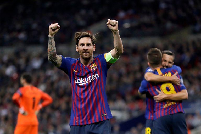 Champions League: dos goles de Messi en el 4-2 de Barcelona ante Tottenham