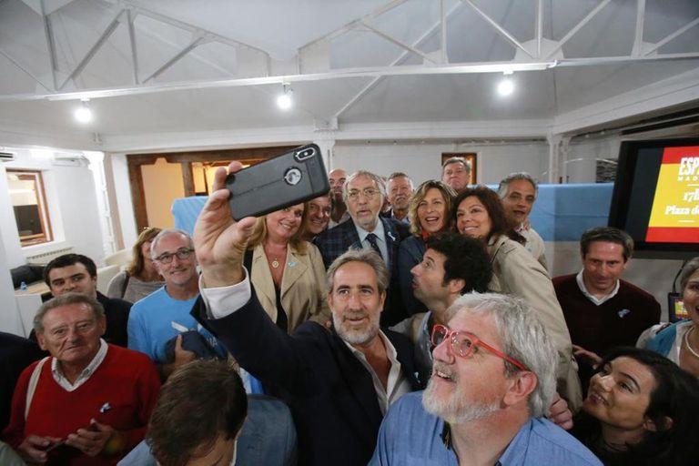 Luis Brandoni en el acto en Madrid