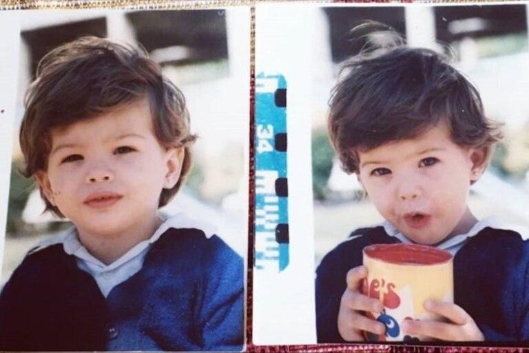 La China Suárez en una de sus fotos más tiernas cuando era una bebé. Muchos seguidores notaron su parecido con Magnolia, la hija que tuvo con Benjamín Vicuña