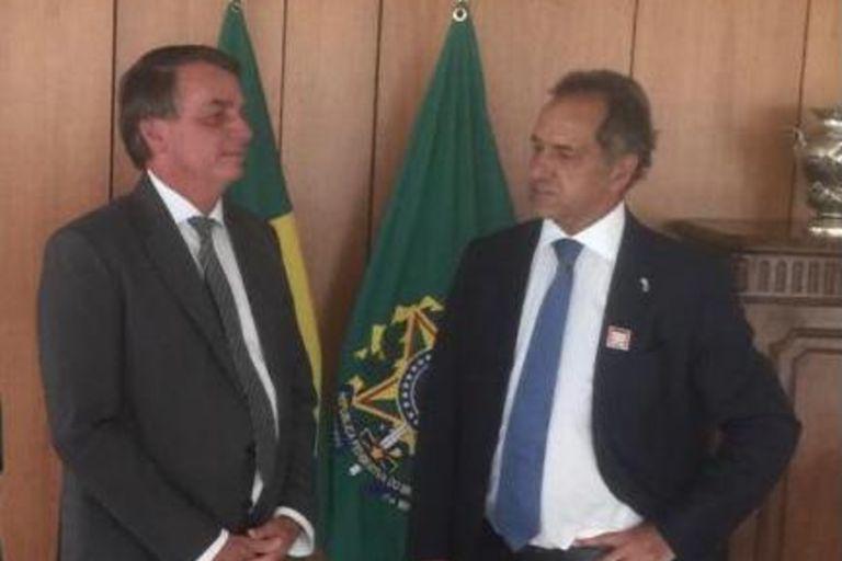 Daniel Scioli se reunió con Jair Bolsonaro por las importaciones de trigo