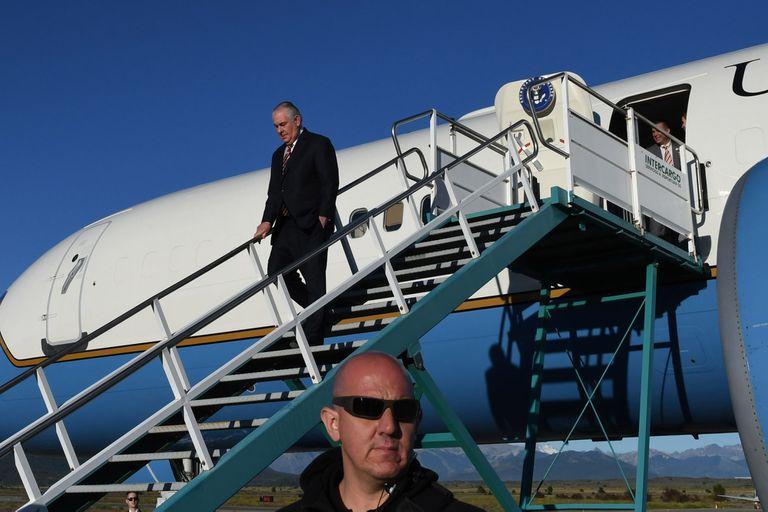 Tillerson llegó hoy a Bariloche