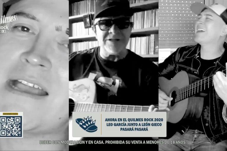 León Gieco y Leo García hicieron uno de los duetos estelares de la primera noche de festival
