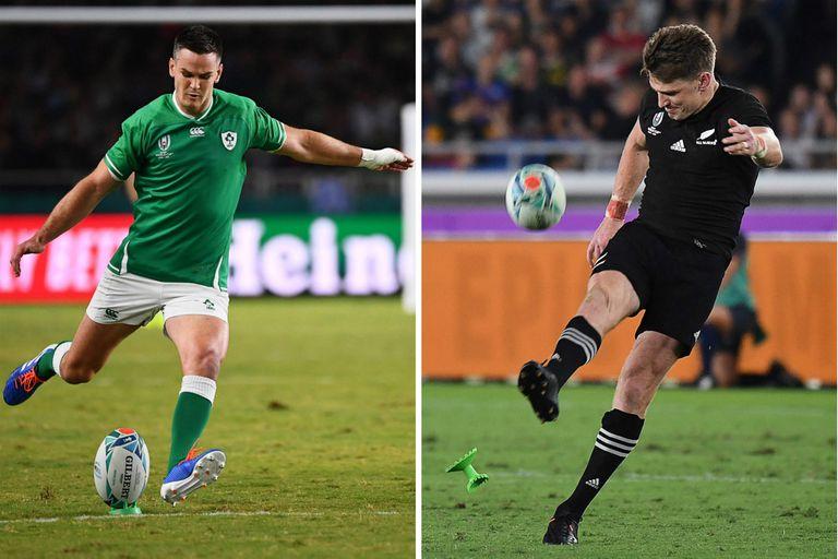 Jonathan Sexton, referente de Irlanda, que intentará vencer por primera vez en mundiales a Nueva Zelanda, el equipo en el que brilla Beauden Barrett.
