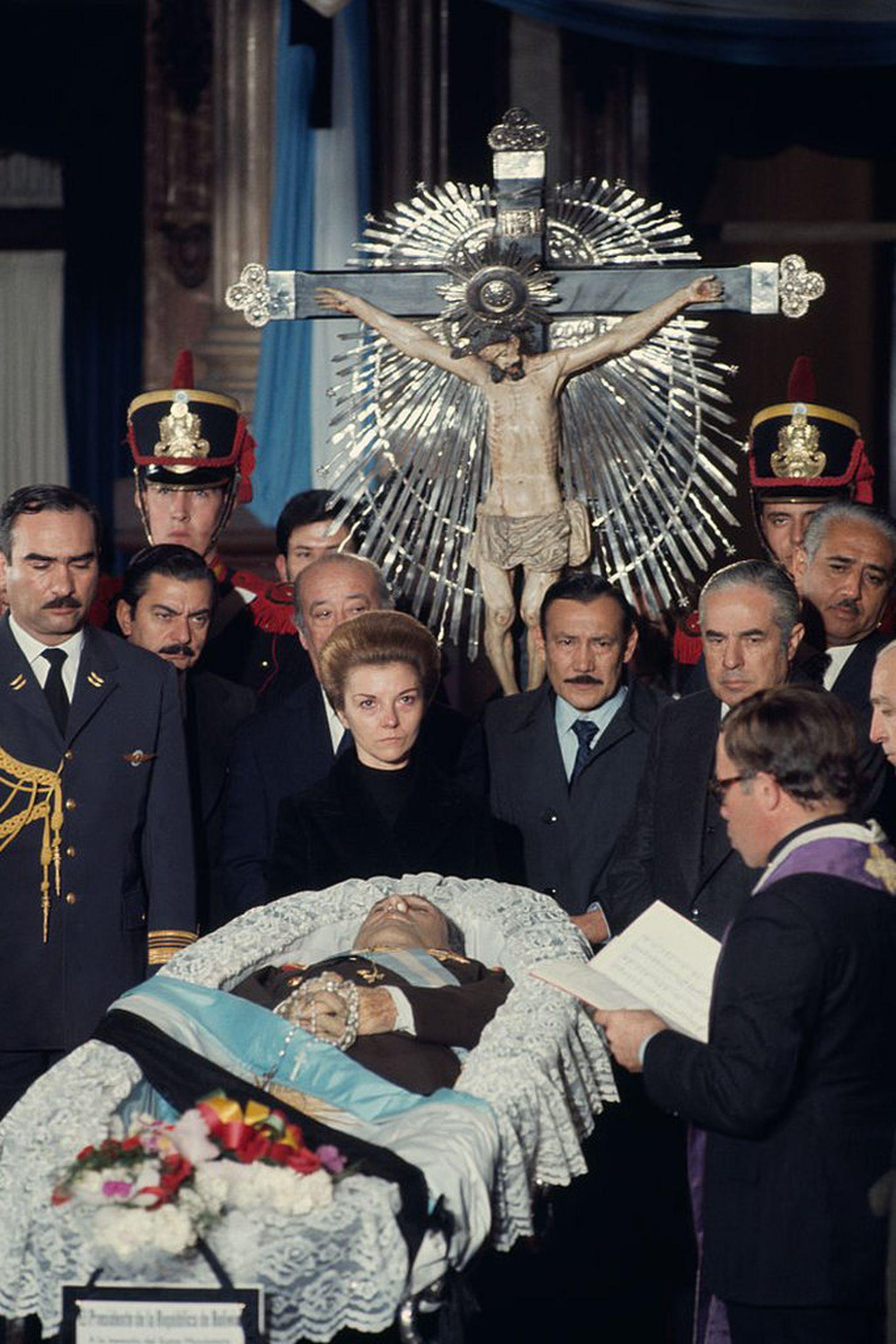 Juan Domingo Perón murió el 1 de julio de 1974.