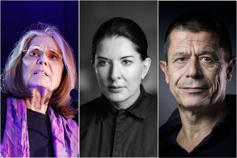 """""""La previa"""" de Gloria Steinem, Marina Abramovic y Emmanuel Carrère antes de los premios"""