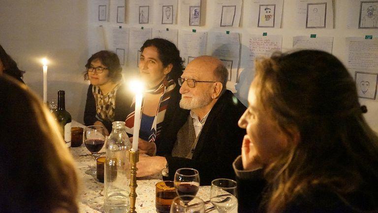 Cena con Luis Felipe Noé en el espacio Hiedra