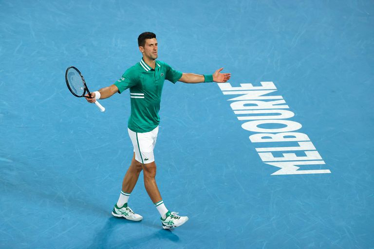 Australian Open: Djokovic derrotó a Zverev y avanzó a las semifinales