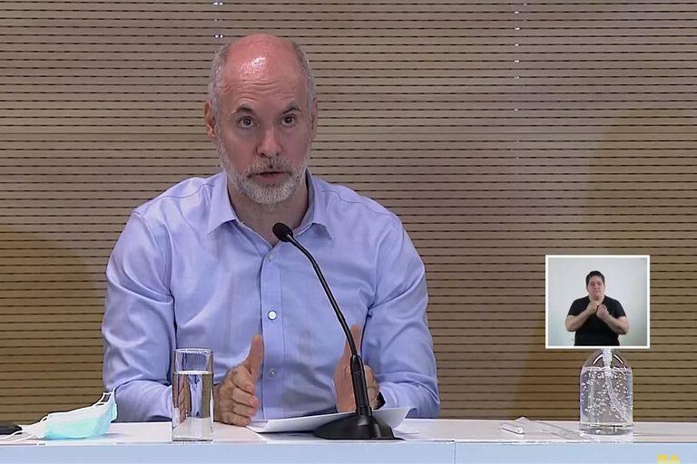 Conferencia de prensa del Jefe de Gobierno de la Ciudad de Buenos Aires, Horacio Rodríguez Larreta