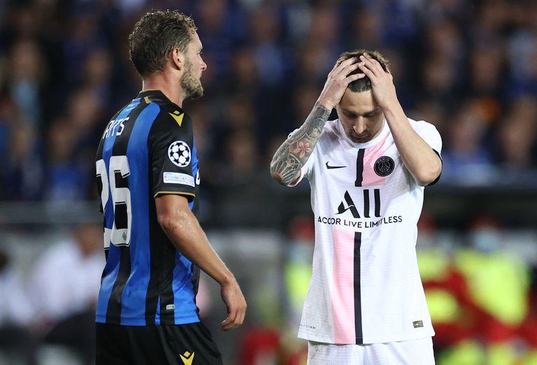 El PSG de Messi y las estrellas sufrió en la Champions: un pobre empate en Bélgica