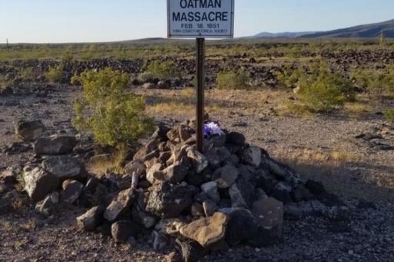 Un memorial en Arizona que recuerda la masacre de la familia Oatman
