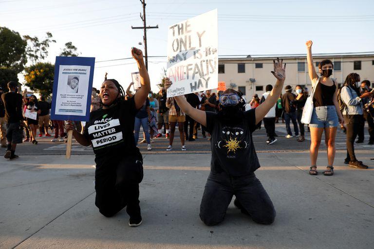 Manifestaciones en las calles de Los Ángeles