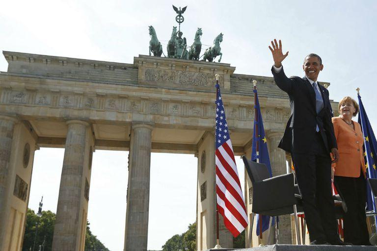 Obama realizó otros anuncios junto a su par alemana, Merkel, por ejemplo, sobre información secreta