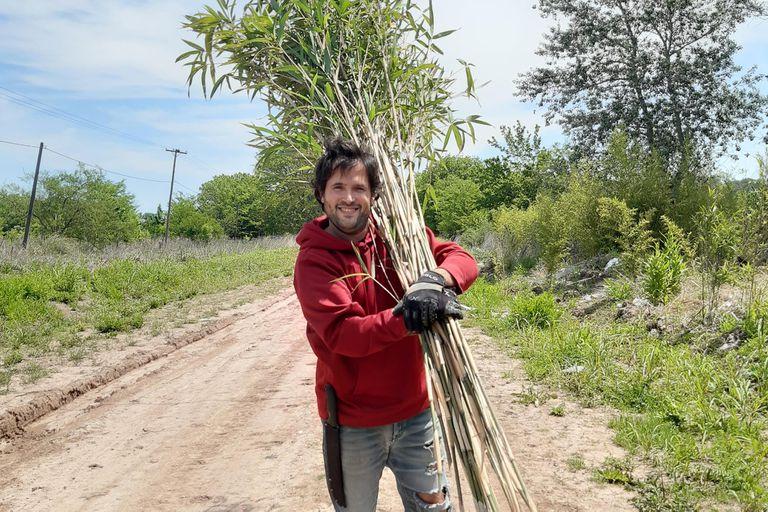 Federico de Angelis produce sorbetes reutilizables elaborados de tallos enteros de bambú