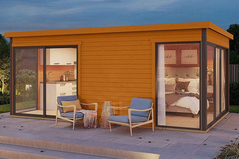 La casa prefabricada tiene 17 m2  y se monta en dos días. Dispone de dos habitaciones, cocina y baño. Además, el cliente puede elegir la distribución