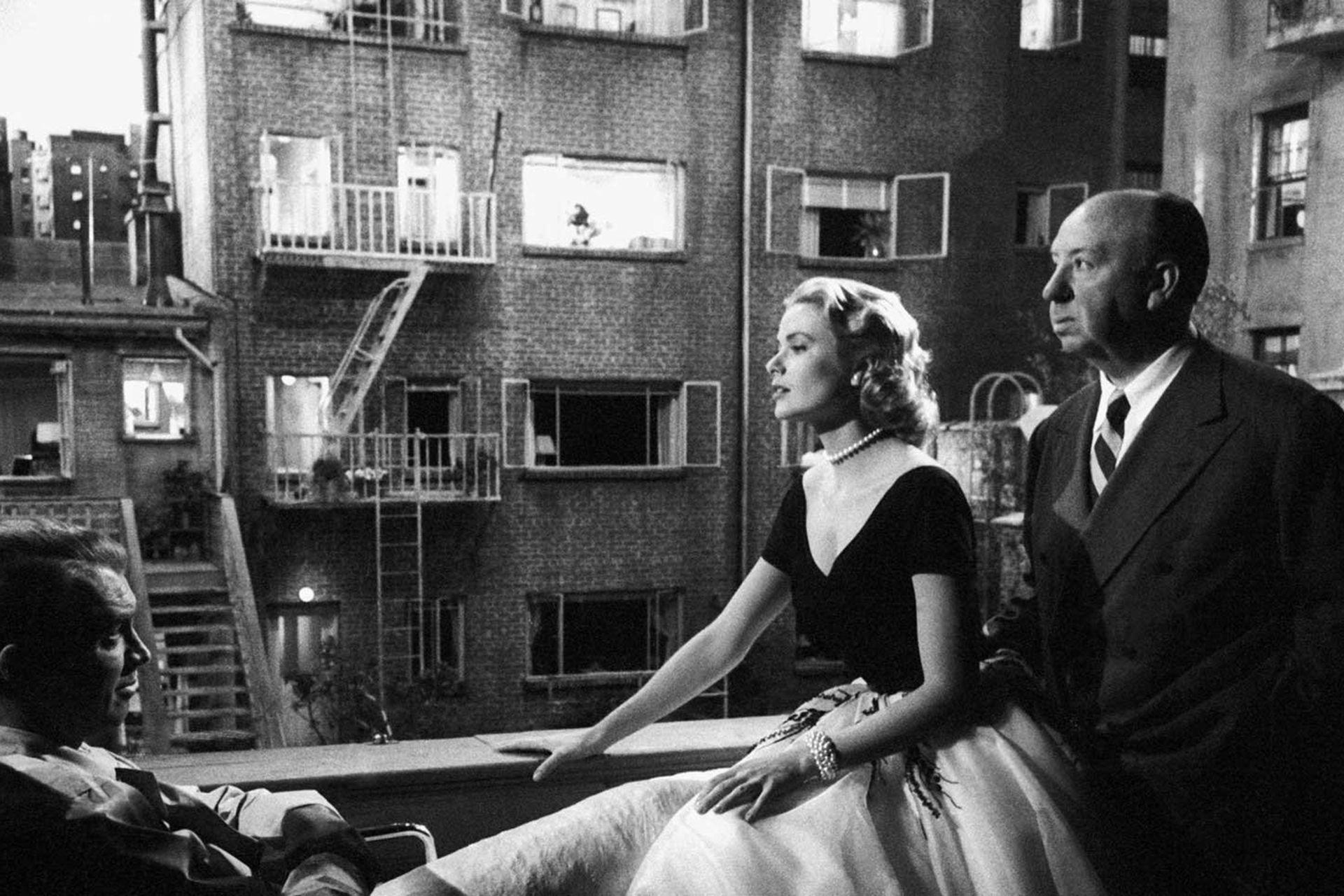 Alfred Hitchcock y su estrella, Grace Kelly