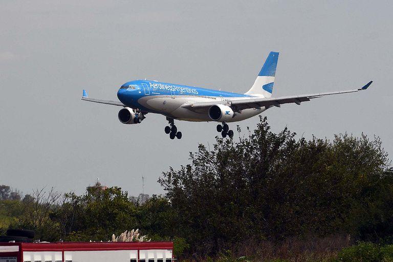 Vuelo de Aerolíneas Argentinas
