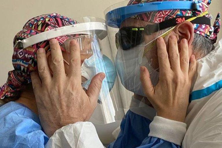 """""""Maldito coronavirus"""": el duro momento de Evelyn Von Brocke y su marido cirujano"""