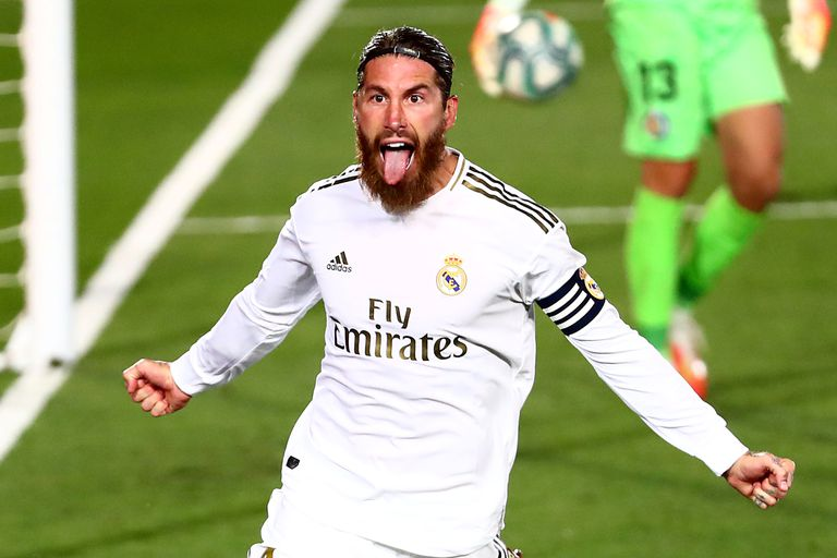 Real Madrid. Le ganó 1 a 0 al Bilbao con gol de Ramos y presiona a Barcelona