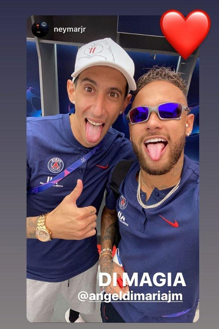 """Neymar rebautizó a su socio: ya no es """"Fideo"""" o Di María..., no, nada de eso: desde ahora es Di Magia"""