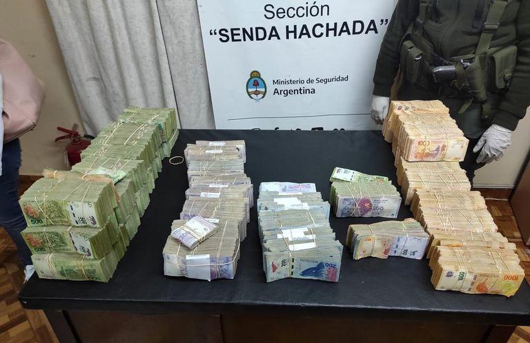 Misterio: incautan $ 13.000.000 en una de las principales rutas del narcotráfico