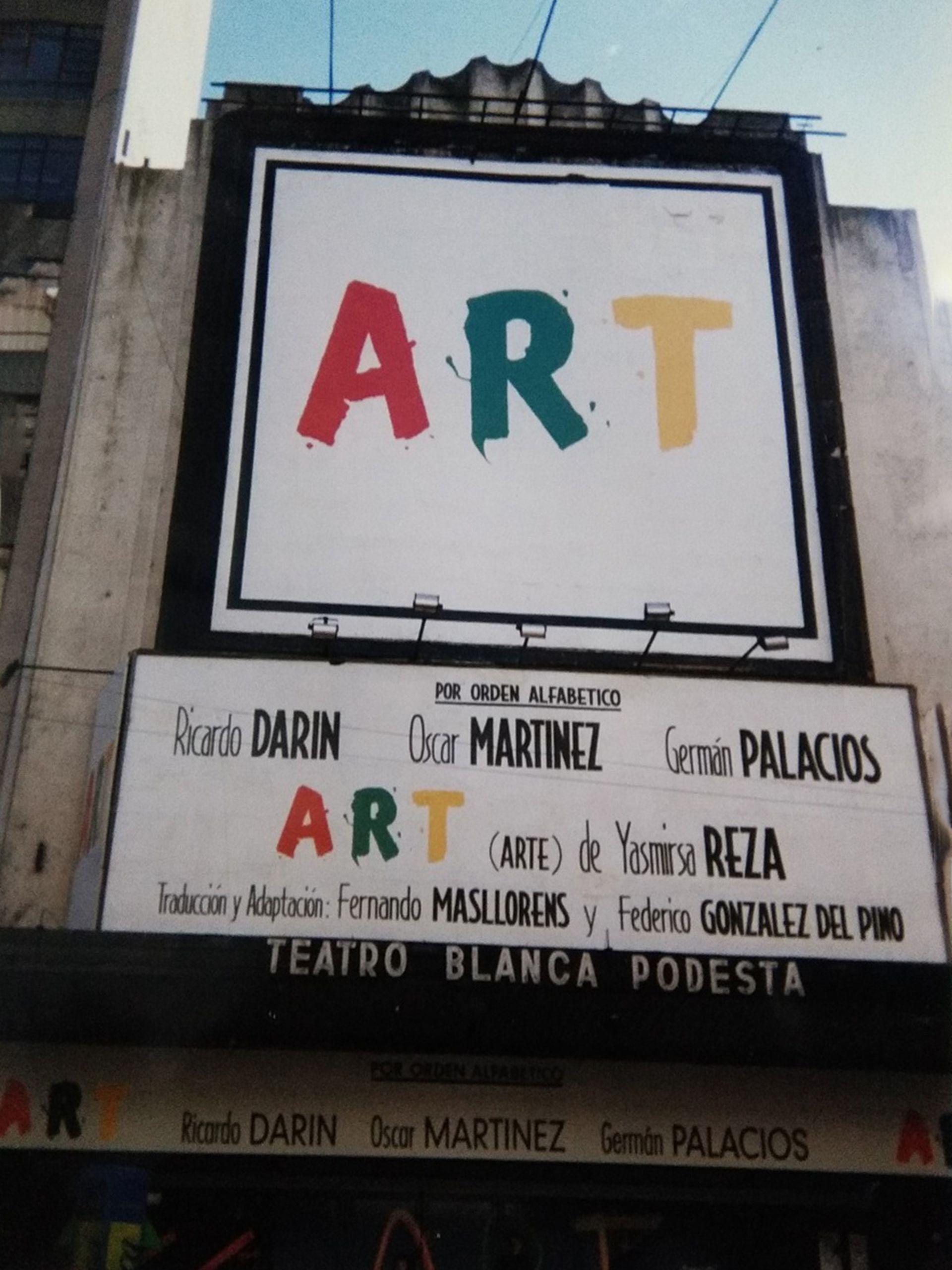 Fachada del desaparecido teatro Blanca Podestá, actual Multiteatro Comafi, en donde se estrenó el texto de Yasmina Reza