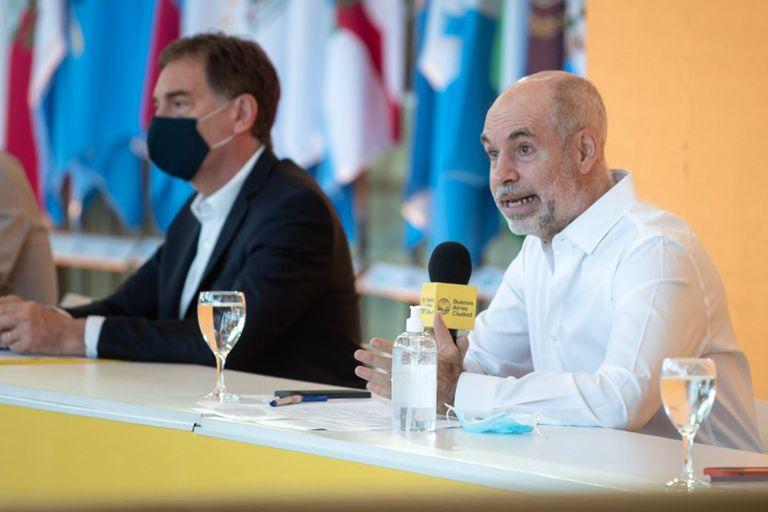 El jefe de Gobierno porteño Horacio Rodríguez Larreta anunció el último jueves el plan de regreso a clases