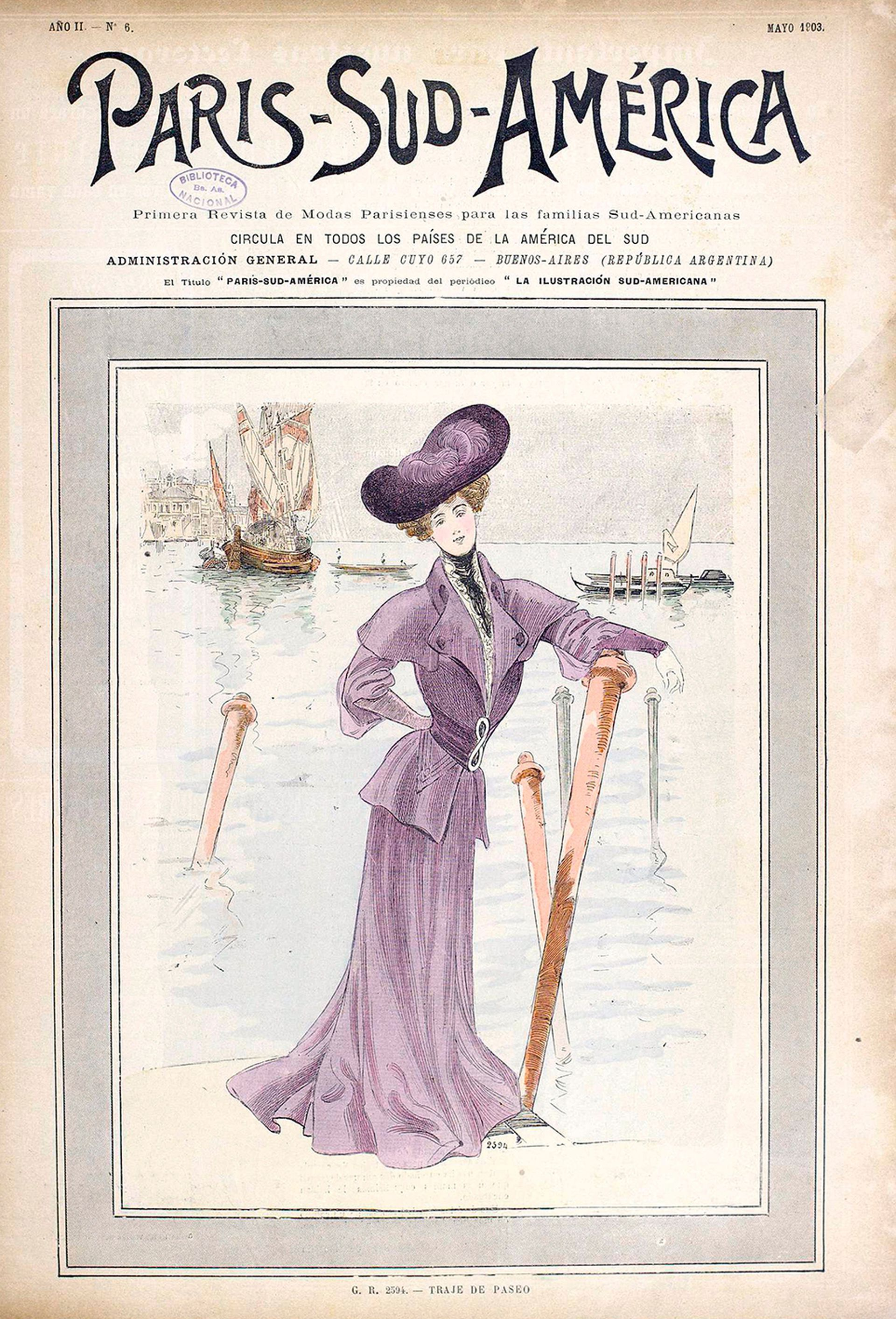 Tapa de la revista Paris-Sud-América de 1903.