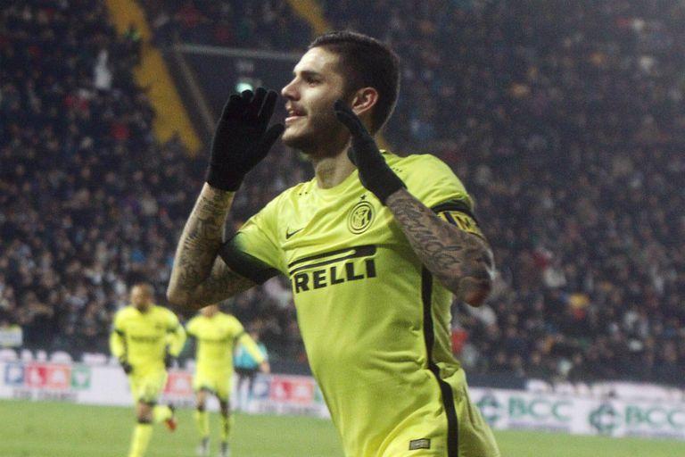 Icardi marcó el primer gol del partido