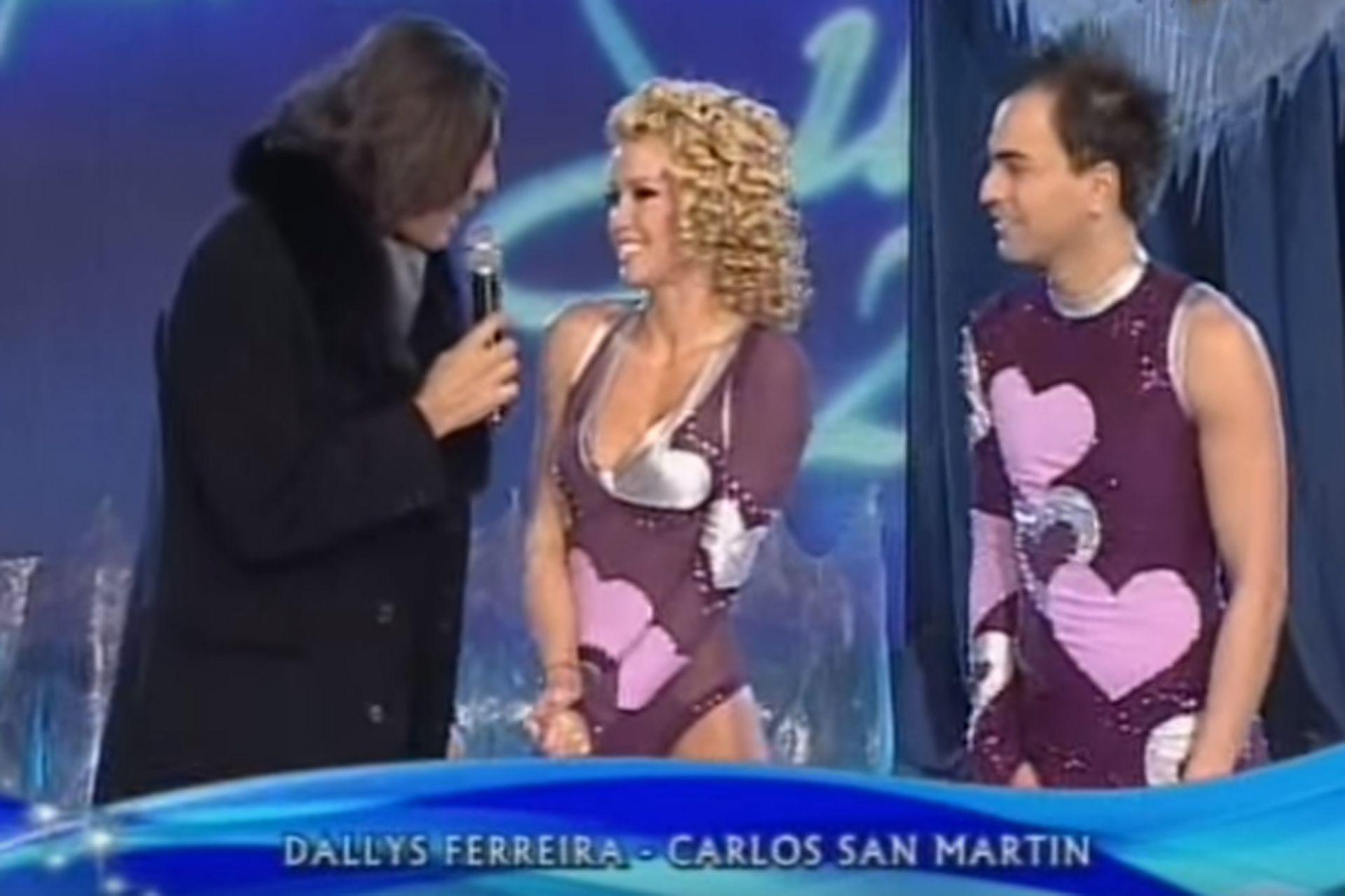 San Martín participó del Patinando por un sueño en 2008 junto a Dalys Ferreira