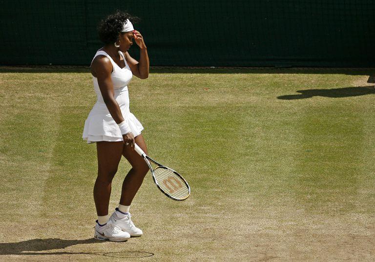 Ahora sí: todo de blanco. En Wimbledon 2008
